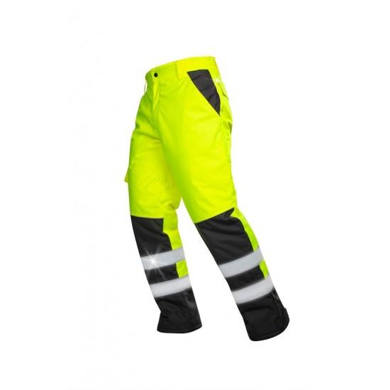 Pantaloni reflectorizanti de lucru HOWARD galben / portocaliu