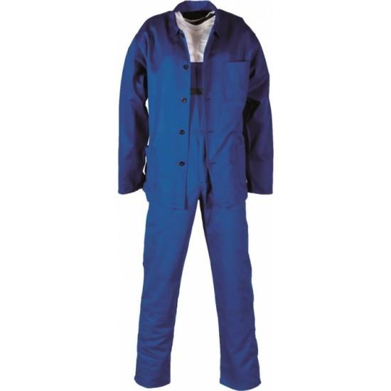 Costum de lucru cu salopeta Klasik albastru - ARDON