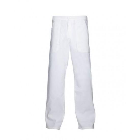 Pantaloni de lucru albi, 100% bumbac - SANDER Ardon