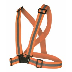 Bretele elastice reflectorizante REF, portocaliu - ARDON