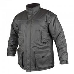 Jacheta de iarna cu maneci detasabile Lino, Gri