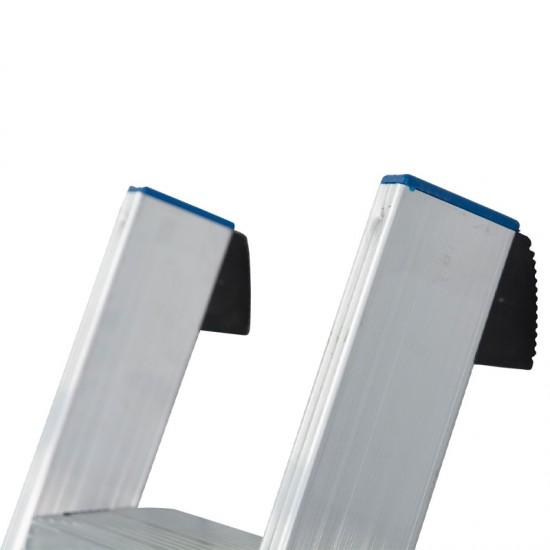 Scara simpla din aluminiu cu trepte late STABILO, 12 trepte
