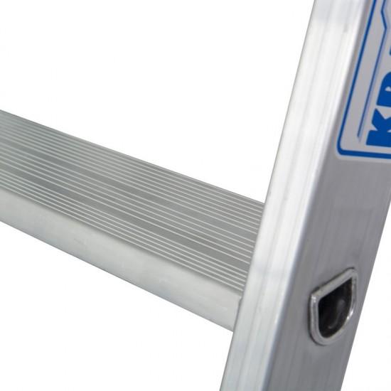 Scara simpla din aluminiu cu trepte late STABILO, 7 trepte