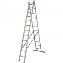 "Scara multifunctionala din aluminiu Monto ""Dubilo"", 2x12 trepte"