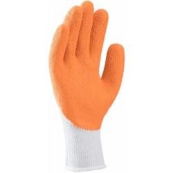 Manusi DICK KNUCKLE PES-BBC A-3/4 LATEX, alb-portocaliu